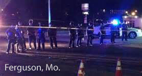 Ferguson, Mo. War Zone after killing, 08/11/14