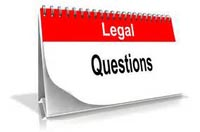 Note pad with words Legal Question