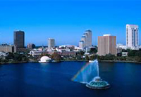 Orlando Sky Line looking over the Lake Eola.
